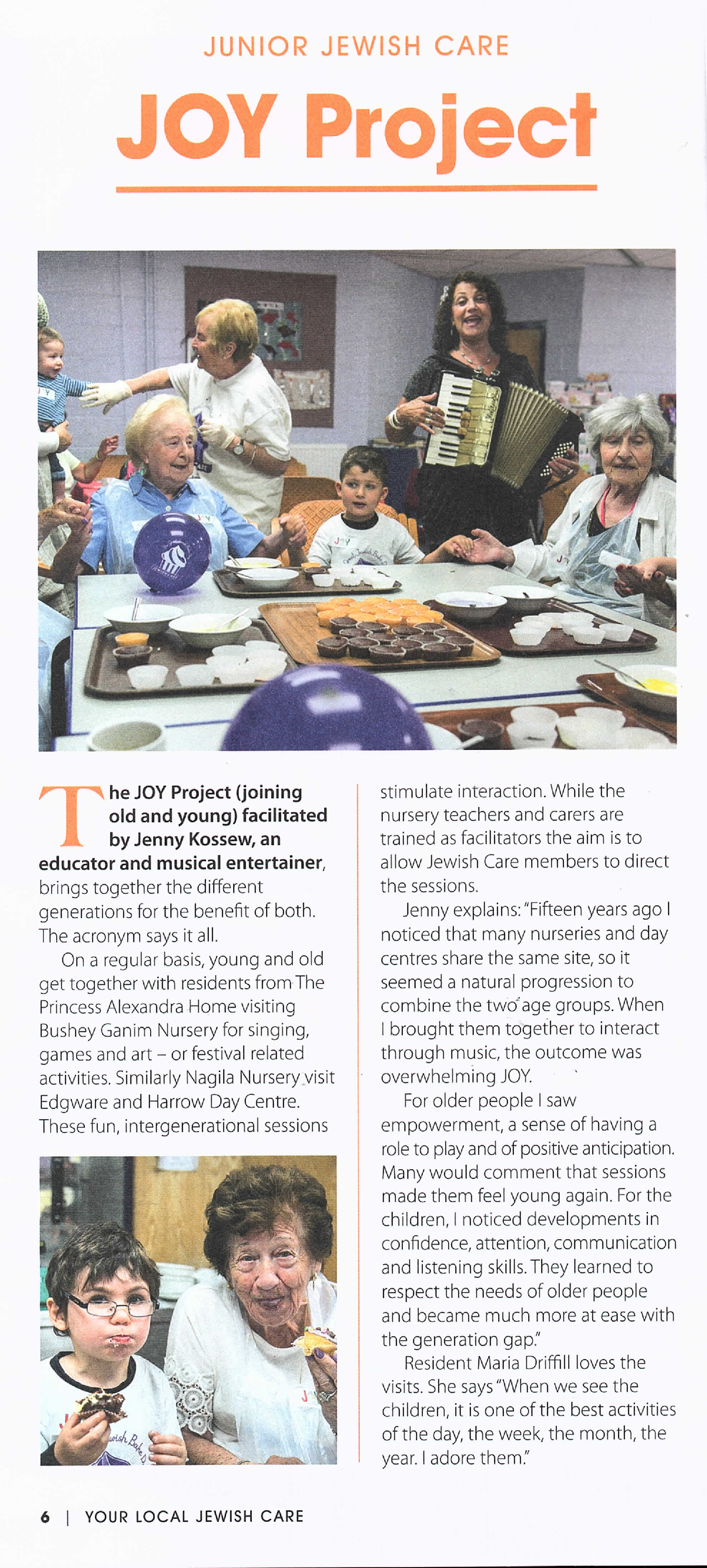 Joy Article Jewish Care 2018
